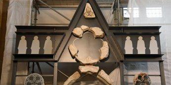 Rekonstruktion des gotischen Lettners im Paderborner Dom, © Ronald Pfaff, Pressestelle Erzbistum Paderborn